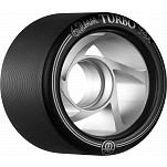 Rollerbones Turbo Wheel Clear Aluminum Hub 62mm 94a 8pk Black