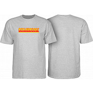 Rollerbones Retro Script T-Shirt - Athletic Heather