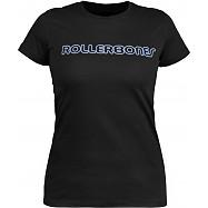 Rollerbones Woman's Neon T-shirt Black