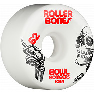 Rollerbones Bowl Bombers Wheels 62mm 103A 8pk White