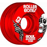 Rollerbones Bowl Bombers Wheels 62mm 103A 8pk Red
