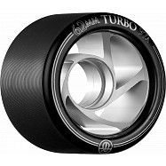Rollerbones Turbo Wheel Clear Aluminum Hub 62mm 97a 8pk Black