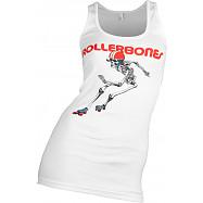 Rollerbones Woman's Derby Skeleton Tank Top White