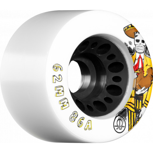 Rollerbones Day of the Dead Speed wheel 62mm x 86a White 4 Pk