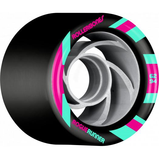 Rollerbones Turbo Rogue Runner Signature Rollerskate Wheel 62mm 94A Black 8pk