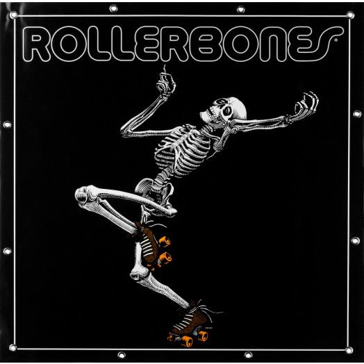 RollerBones Skating Skeleton Banner